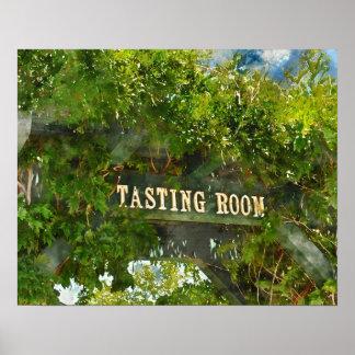 Signe de salle de dégustation de vin poster