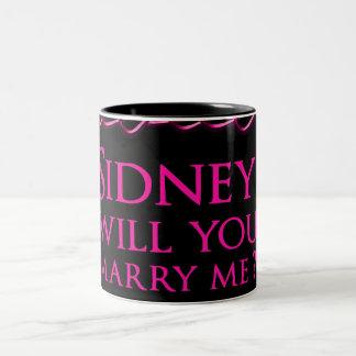 Signe de Sidney Crosby Mug Bicolore