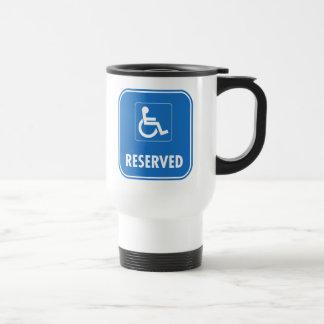 Signe de stationnement d'handicap mug de voyage