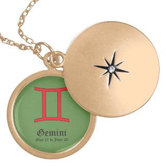 Signe de zodiaque de Gémeaux Médaillon Avec Fermoir