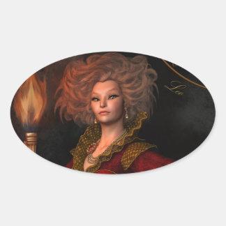 Signe de zodiaque de Lion Sticker Ovale