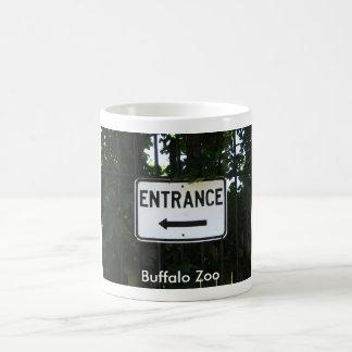 Signe d'entrée de zoo de Buffalo Mug Blanc