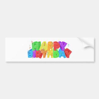 Signe des textes de mot de joyeux anniversaire autocollant de voiture