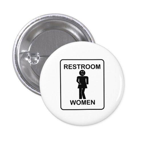Signe des toilettes des femmes drôles badges