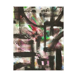 Signe des traçages abstraits peints parMain Toiles