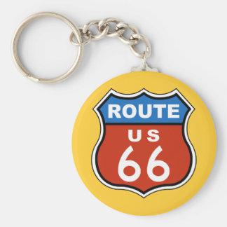 Signe des USA 66 d'itinéraire Porte-clé Rond