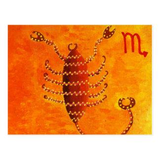 Signe d'étoile de zodiaque d'horoscope de Scorpion Carte Postale