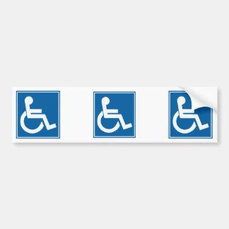 Signe d'handicap autocollant de voiture