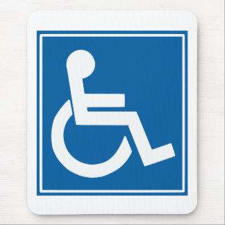 Signe d'handicap tapis de souris