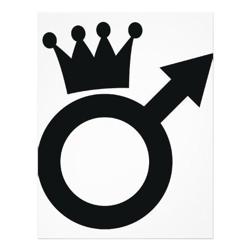 signe d 39 homme avec l 39 ic ne de couronne prospectus customis zazzle. Black Bedroom Furniture Sets. Home Design Ideas