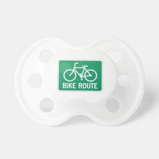 Signe d'itinéraire de bicyclette tétine pour bébé