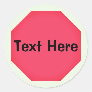 Signe fait sur commande Emoji d'arrêt Sticker Rond