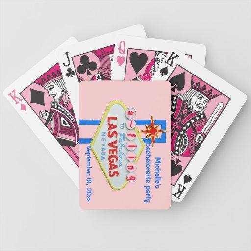 Signe final rose Playi de Fling de Las Vegas Bache Jeu De Poker