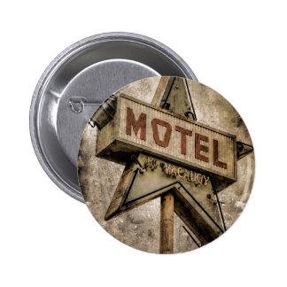 Signe grunge vintage de motel d'étoile badge rond 5 cm