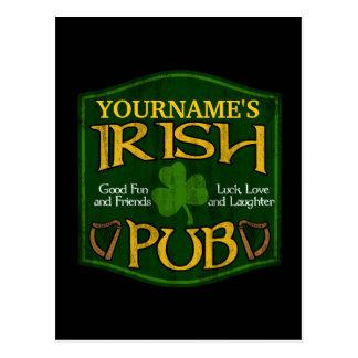 Signe irlandais personnalisé de Pub Cartes Postales