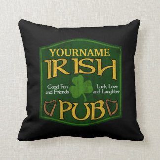Signe irlandais personnalisé de Pub Oreiller