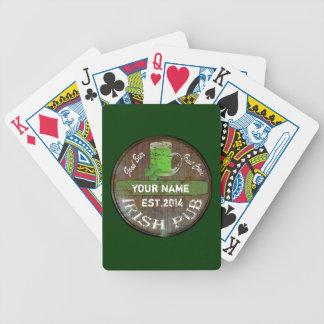 Signe irlandais personnalisé de pub jeu de poker