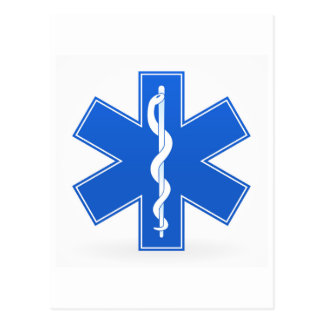 Signe médical bleu cartes postales
