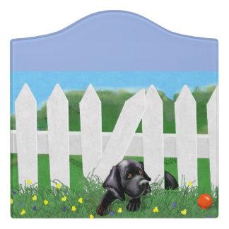 Signe noir de pièce de Labrador