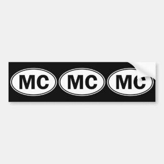 Signe ovale d'identité de MC Autocollant De Voiture