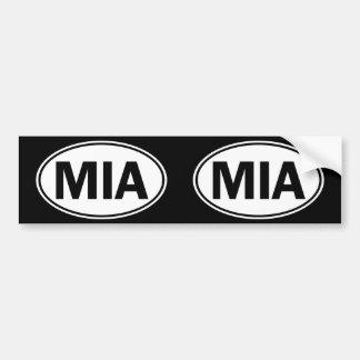 Signe ovale d'identité de MIA Autocollant Pour Voiture