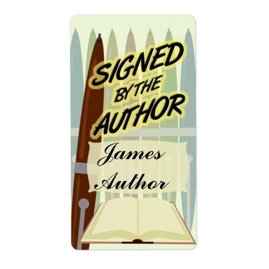 Signé par les étiquettes de coutume d'auteur