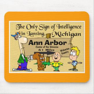 Signe pour Ann Arbor Tapis De Souris