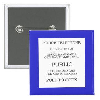Signe public de cabine téléphonique badge carré 5 cm