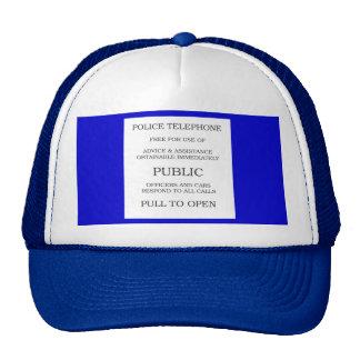 Signe public de cabine téléphonique casquettes de camionneur