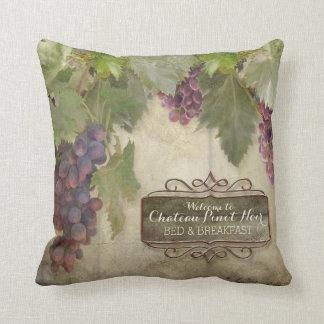 Signe rustique personnalisé de vin d'automne coussin décoratif
