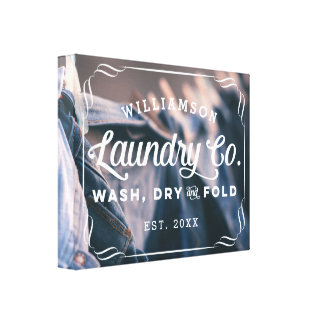 Signe sec personnalisé de pli de lavage de la toile