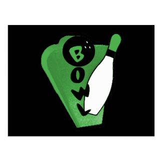 Signe vert de bowling de Pin de cuvette Carte Postale