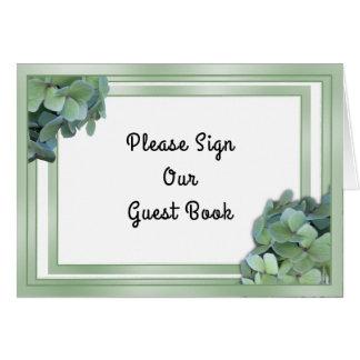 Signe vert de Tableau de livre d'invité de mariage Cartes De Vœux