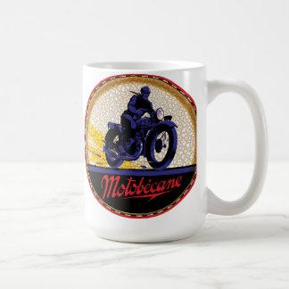 Signe vintage de motos de Motobecane Mug Blanc