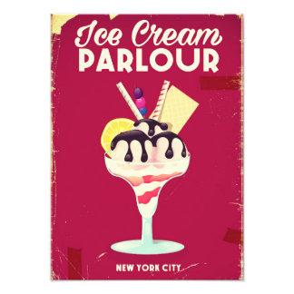 Signe vintage de salon de crème glacée vieux impressions photographiques