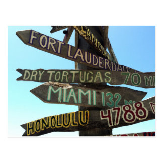Signes de Key West Carte Postale