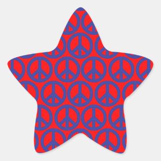 Signes de paix sticker étoile