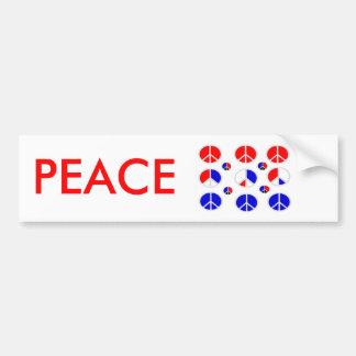 signes de paix bleus blancs rouges adhésifs pour voiture