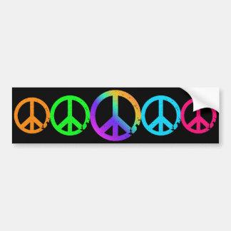 Signes de paix d'arc-en-ciel de KRW Autocollant De Voiture
