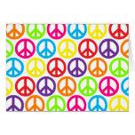 Signes de paix multicolores multiples