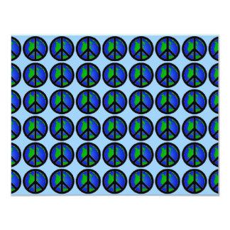 Signes de paix multiples du monde carton d'invitation 10,79 cm x 13,97 cm