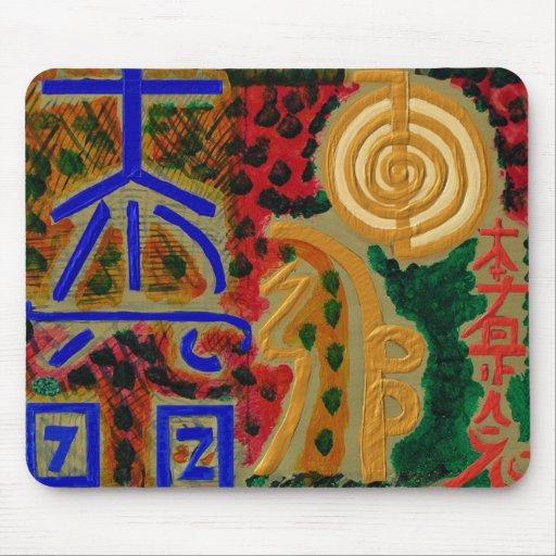 signes de reiki pour la gu 233 rison de la chance n tapis de souris zazzle