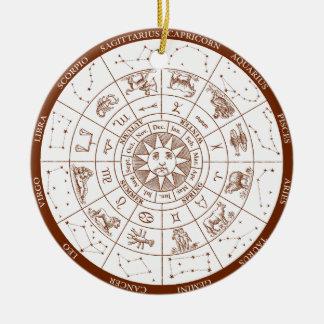 Signes de zodiaque ornement rond en céramique