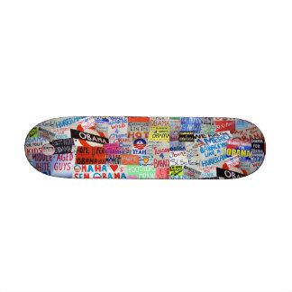 Signes d'Obama de planche à roulettes d'espoir Plateaux De Skateboards Customisés