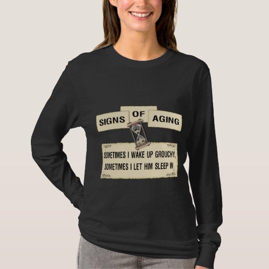 Signes du vieillissement - grognon il t-shirt