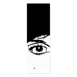 Signet abstrait de visage de filles carte de visite petit format