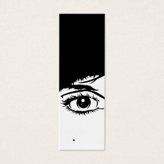 Signet abstrait de visage de filles mini carte de visite