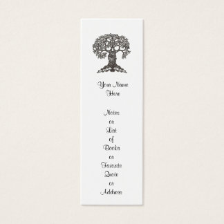Signet d'arbre de lecture mini à customiser mini carte de visite