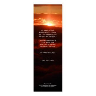 """Signet de poésie """"d'orchestre de nuit"""" carte de visite petit format"""