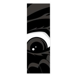 Signet effrayé de garçon carte de visite petit format